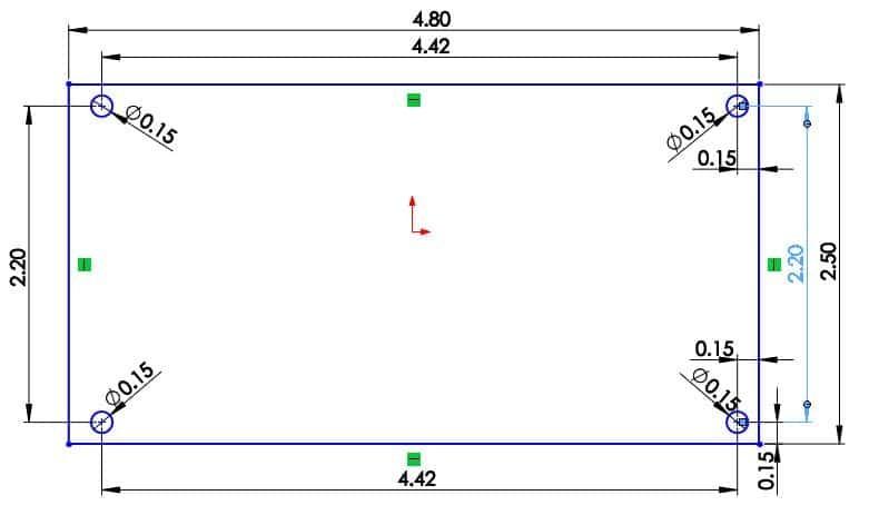 LDR3x.V2 board dimensions