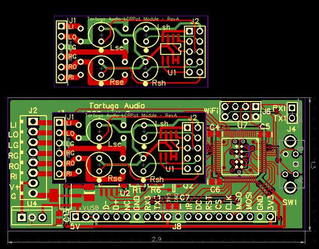 LDRPot.V1 Stepped Attenuator Prototype PCBs