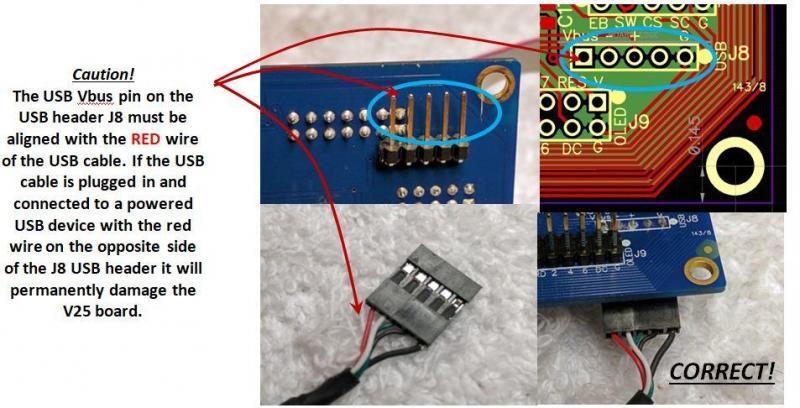 V25 preamp controller USB port connection