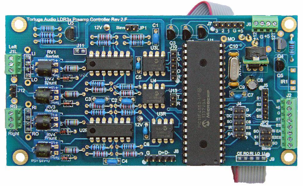 ldr3x.v2 passive preamp controller board - top view