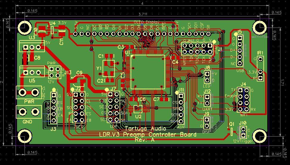 LDR.V3 preamp bontroller board
